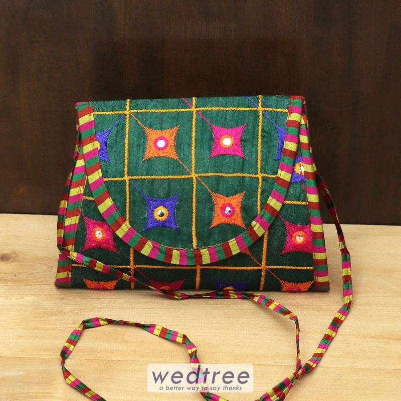 Designer Sling Bag With Thread Embroidery Work - W4449 Sling Bags