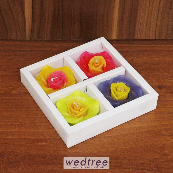 Flower Candle Set Of 4 - W4483 Candles