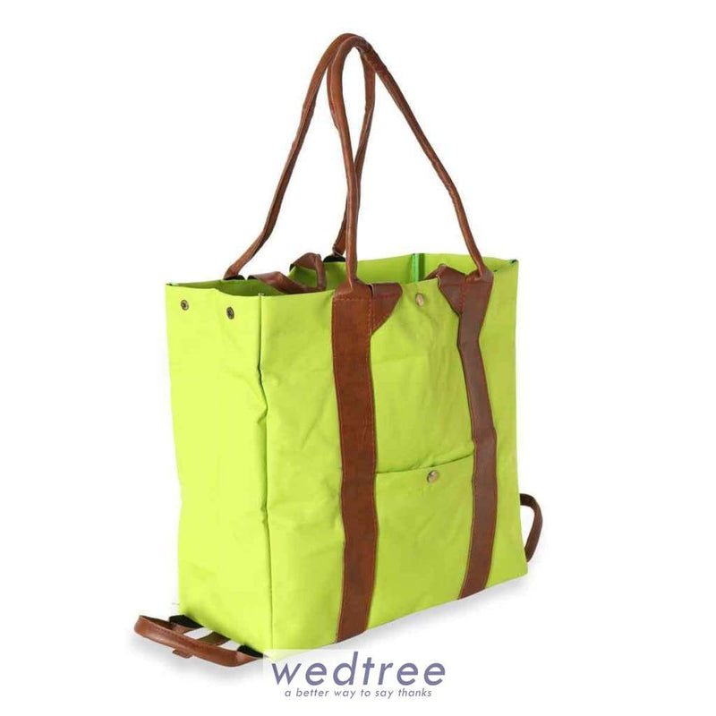 Foldable Soft Rexin And Leather Hand Bag Hand Bags
