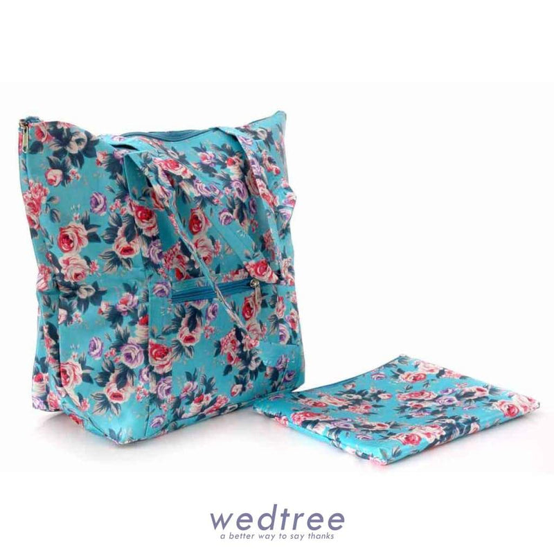 Folding Shopping Bag With Pouch