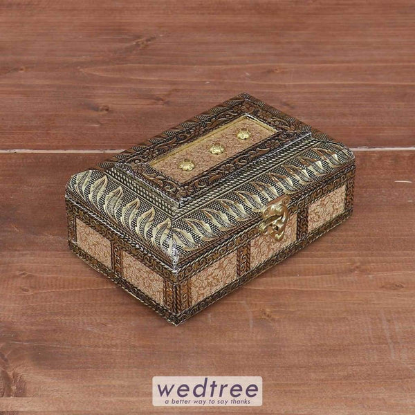German Oxidised Jewel Box 6 X 4 Inch - W3681 Jewellery Holder