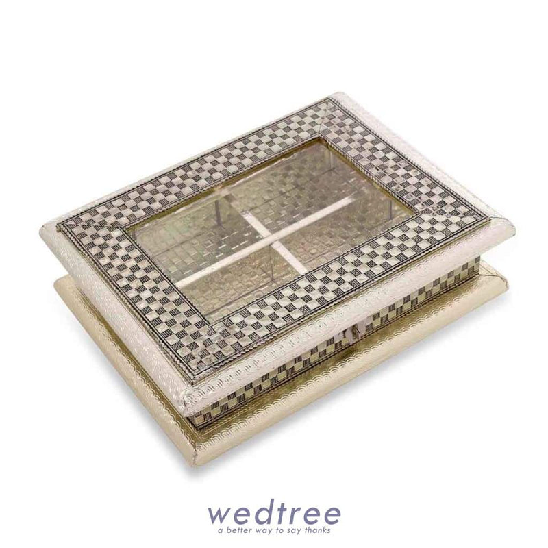 German Oxidised - Transparent Dry Fruit Box 7X9 Fruit Box