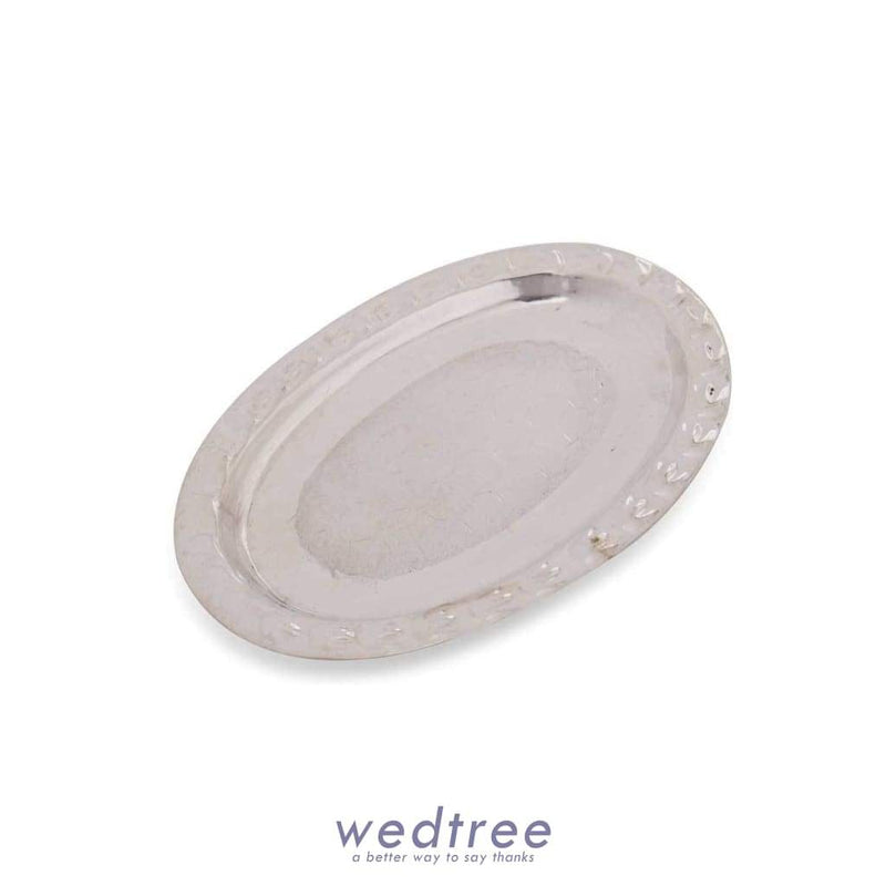 German Silver Oval Shaped Plate W2435 At Rs 1 17 Return Gifts By Wedtree