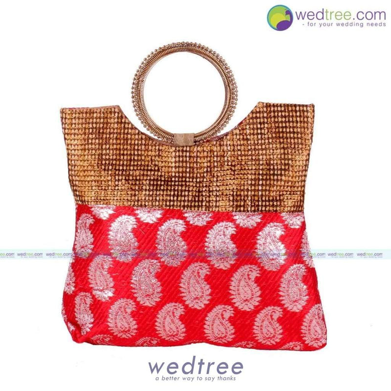 Hand Bag - Bangle Type With Mango Prints Bags