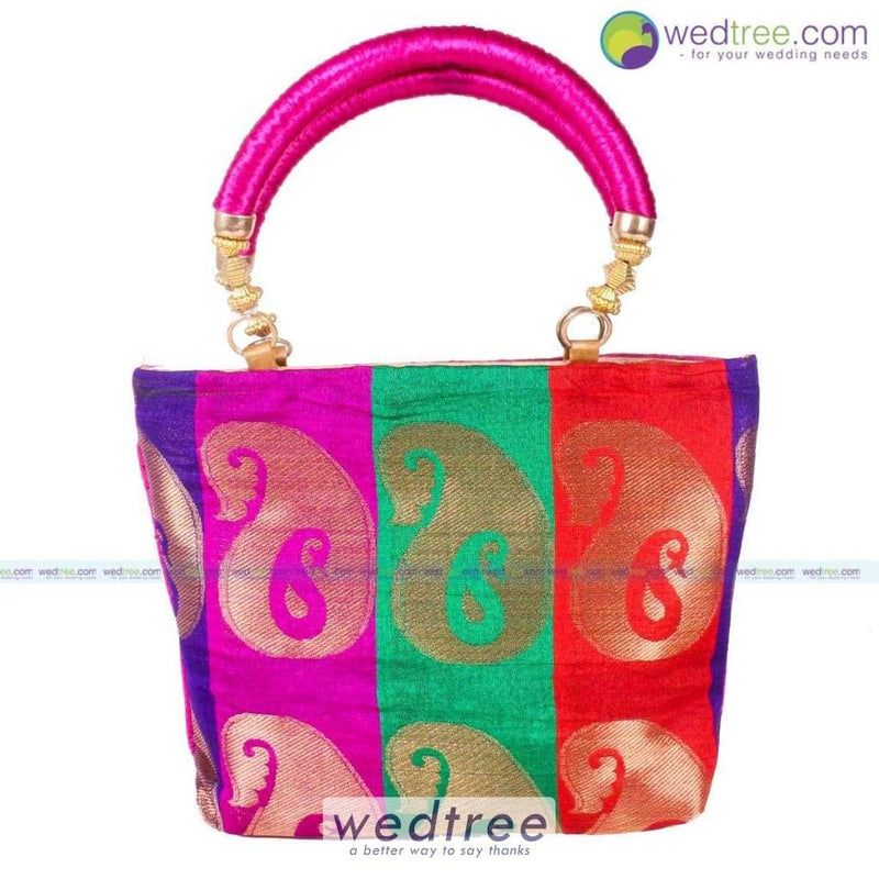 Hand Bag - Colourful Mango Design Small Bags