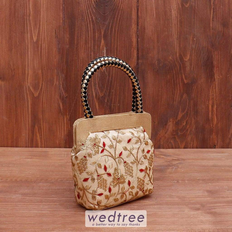 Hand Bag Floral Thread Embroidery - W4043 Bags