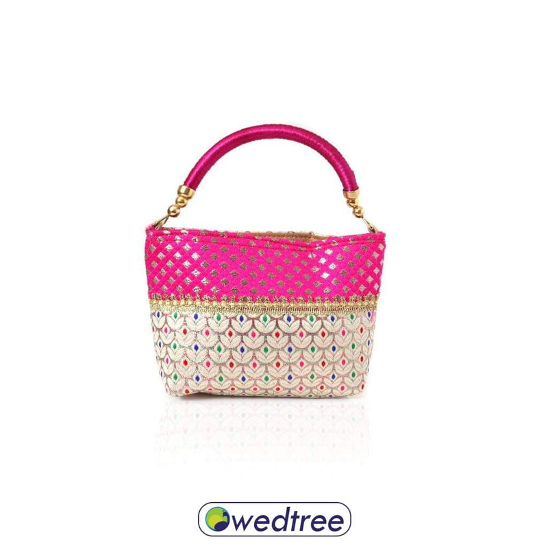 Hand Bag - Glittery Design With Checks Bags