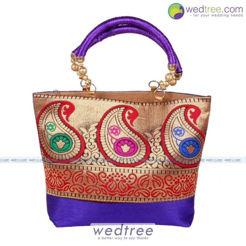 Hand Bag - Golden Mango Design Bags