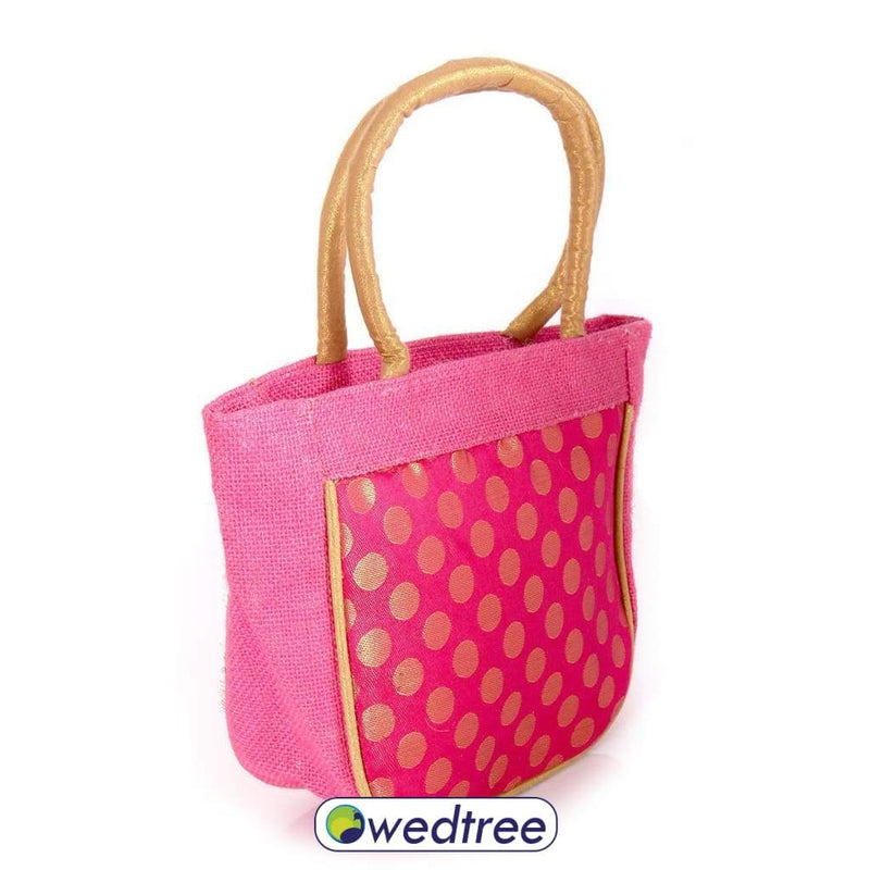 Hand Bag - Jute And Brocade Jute Bags