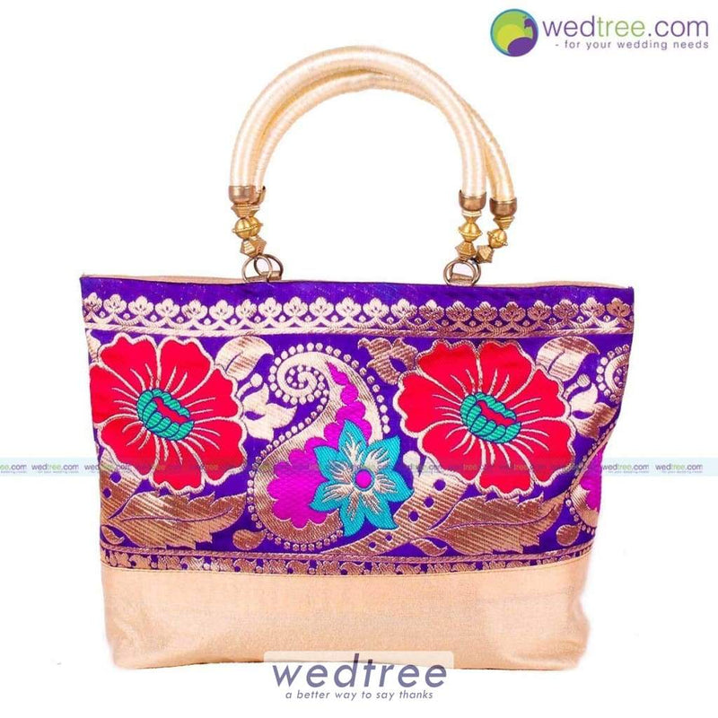 Hand Bag - Mango Design With Flower Print Bags