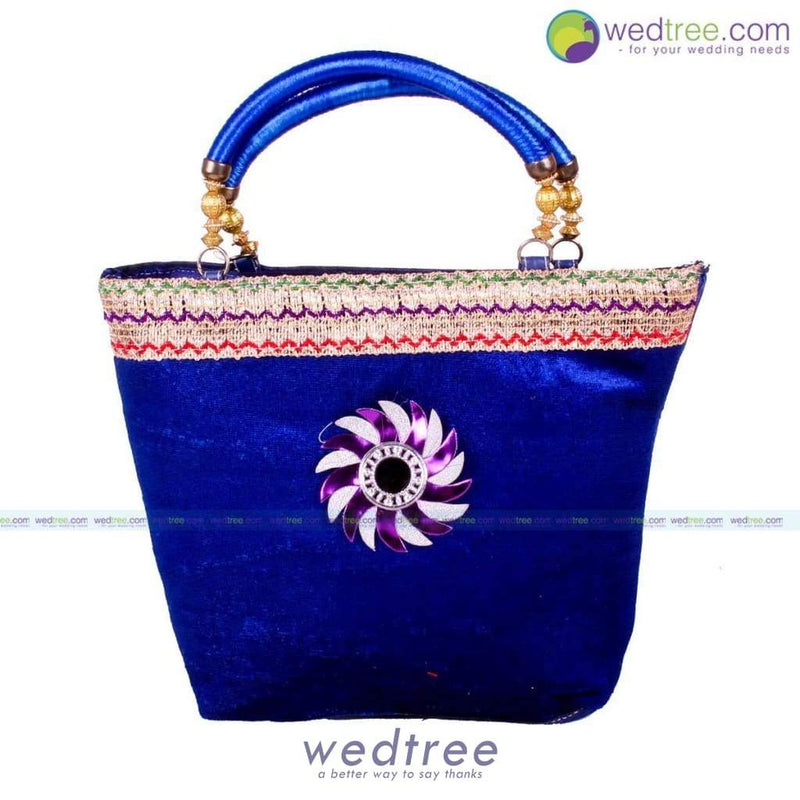 Hand Bag - Velvette With Motif Bags