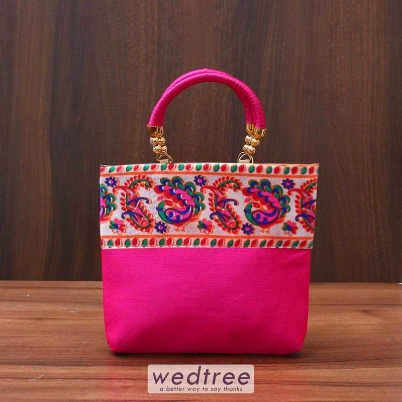 Hand Bag With Colourful Mixed Designs - W3520 Bags