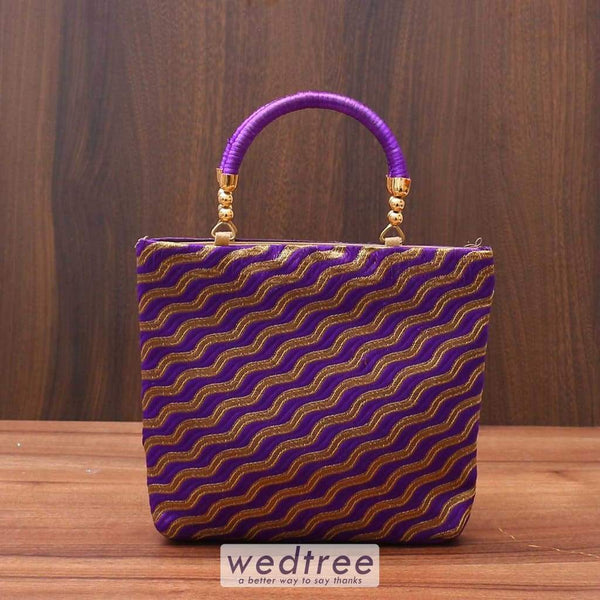 Hand Bag With Waves Design - W3517 Bags