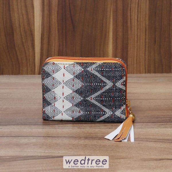 Hand Clutch Small With Kantha Work - W4509 Clutches & Purses