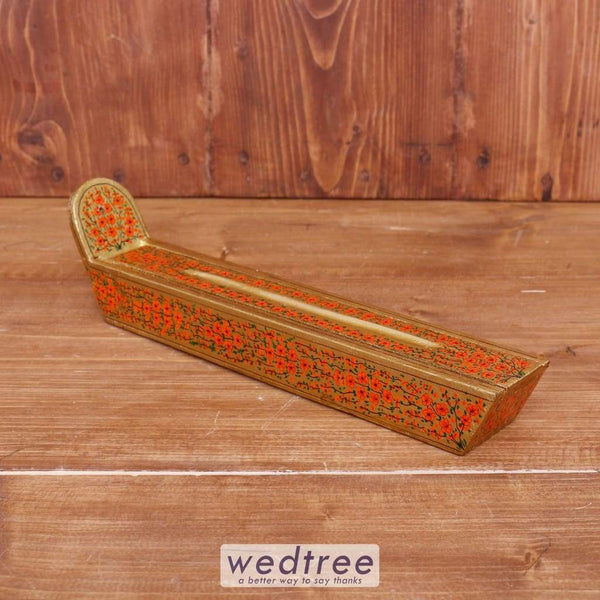 Hand Painted Paper Mache Incense Stick Holder - W3835 Pooja Utilities