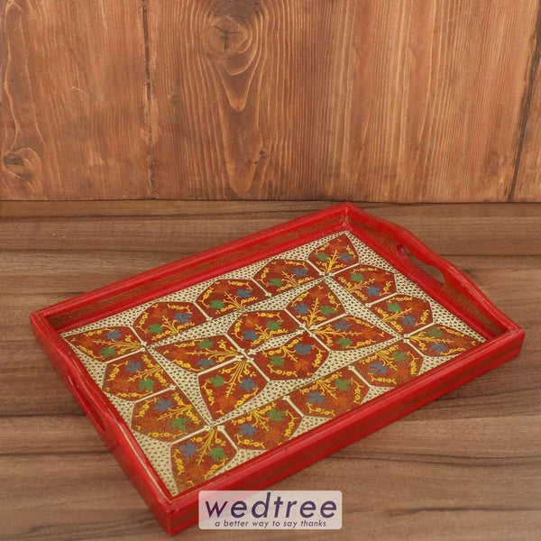 Hand Painted Tray - W3839 Trays & Plates