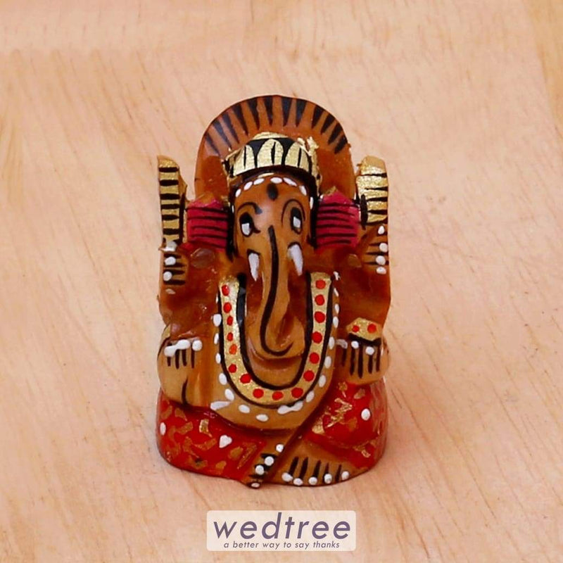 Hand Painted Wooden Ganesha - W4166 Divine Return Gifts