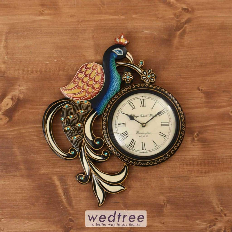 Hand Painted Wooden Wall Clock - W3773 Utility Return Gifts