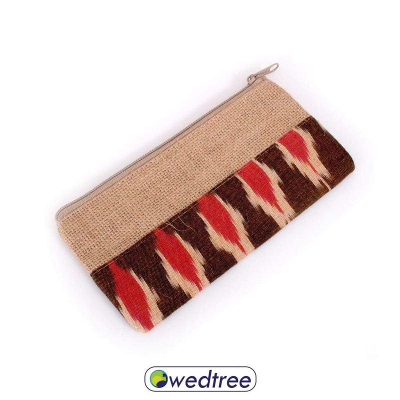 Jute And Ikat Purse Clutches & Purses