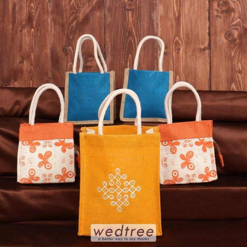 Jute Bag Pack Of 5 - Ap0589 Assorted Sets