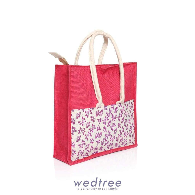 Jute Bag With Print And Zipper - W2901 Bags