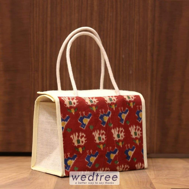 Jute Kalamkari Lunch Bag - W4242 Bags