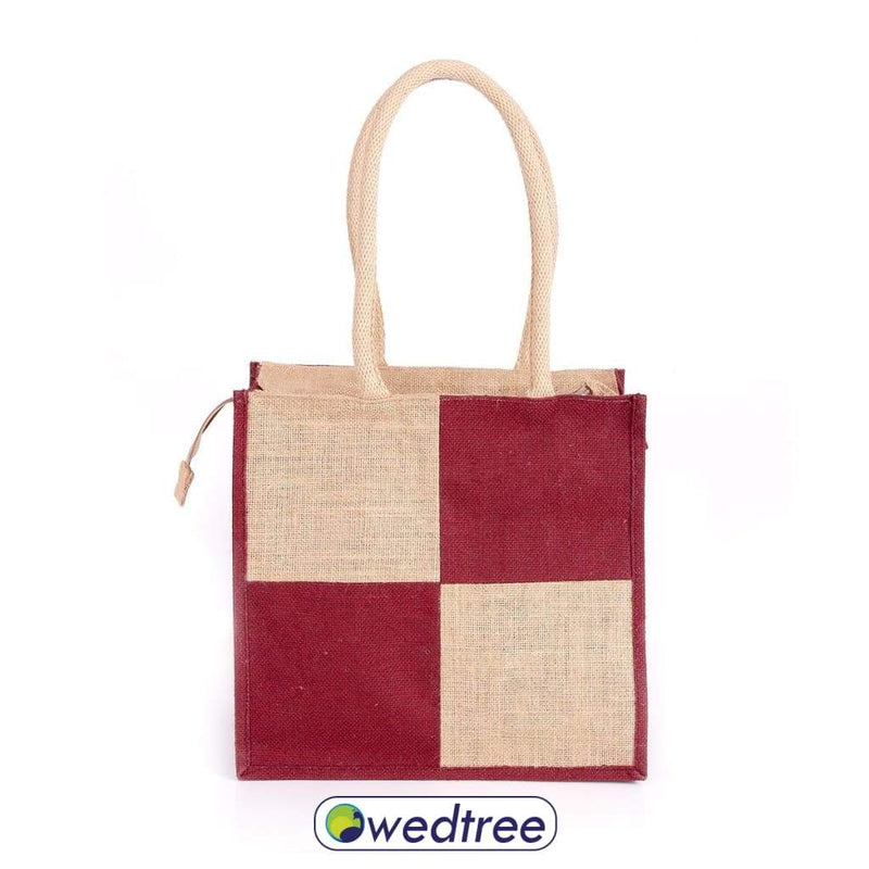 Jute Lunch Bag With Zipper Bags