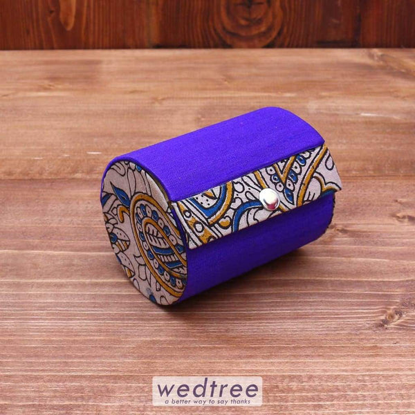 Kalamkari Bangle Holder With 2 Partition Jewellery