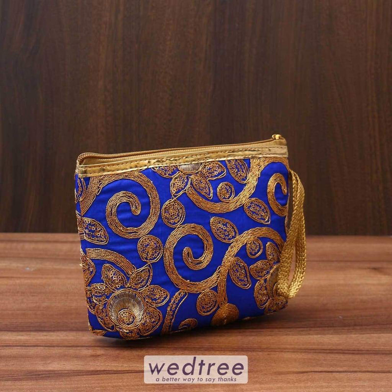 Ladies Purse With Chamki & Thread Embroidery - W3505 Clutches Purses