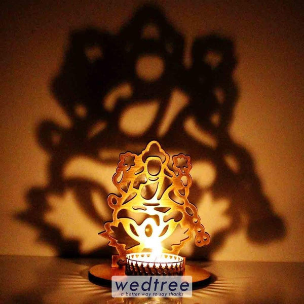Lakshmi Shadow Diya - Mdf Diyas & Candle Holders
