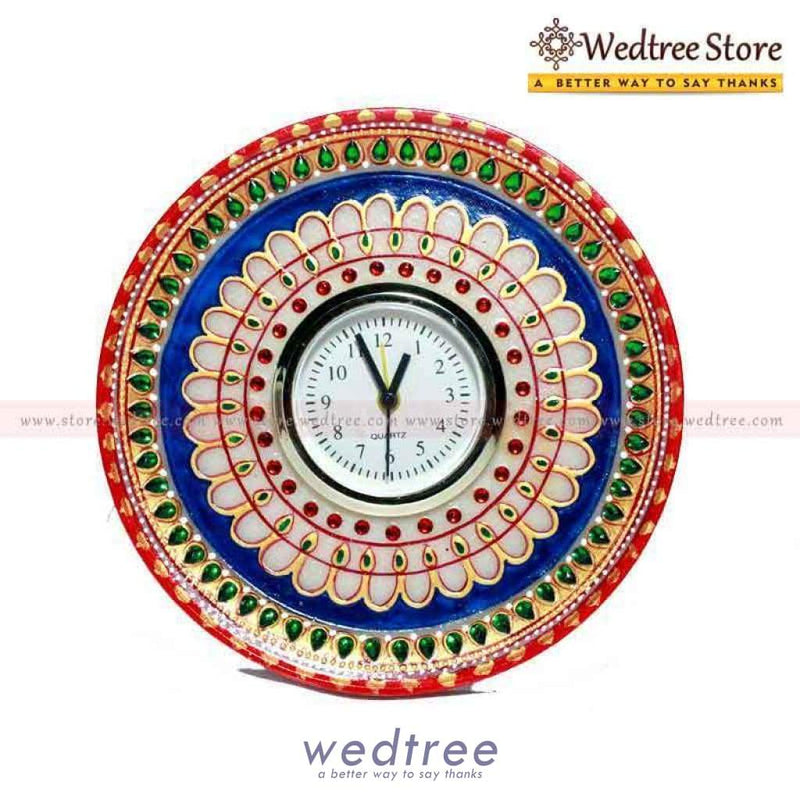 Marble 6 Inch Clock Utility Return Gifts