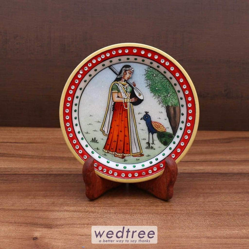 Marble 6 Inch Plate Painting Home Decors