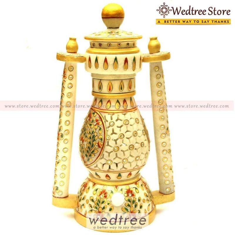 Marble Lantern Jali Home Decors