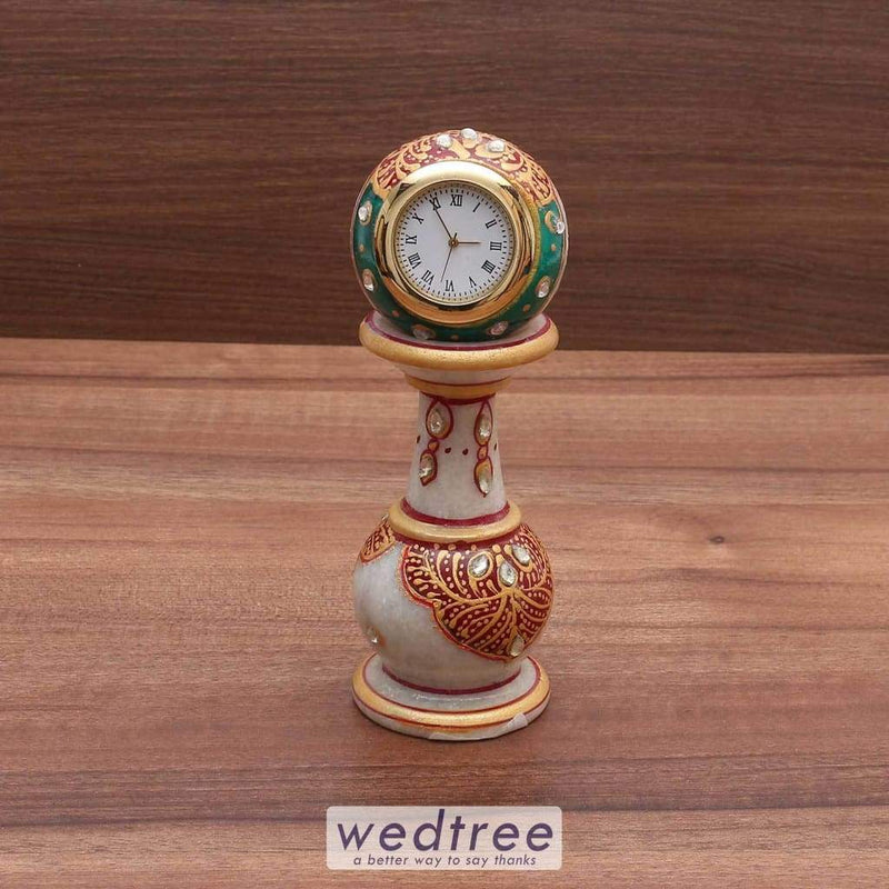 Marble Pillar Clock Utility Return Gifts