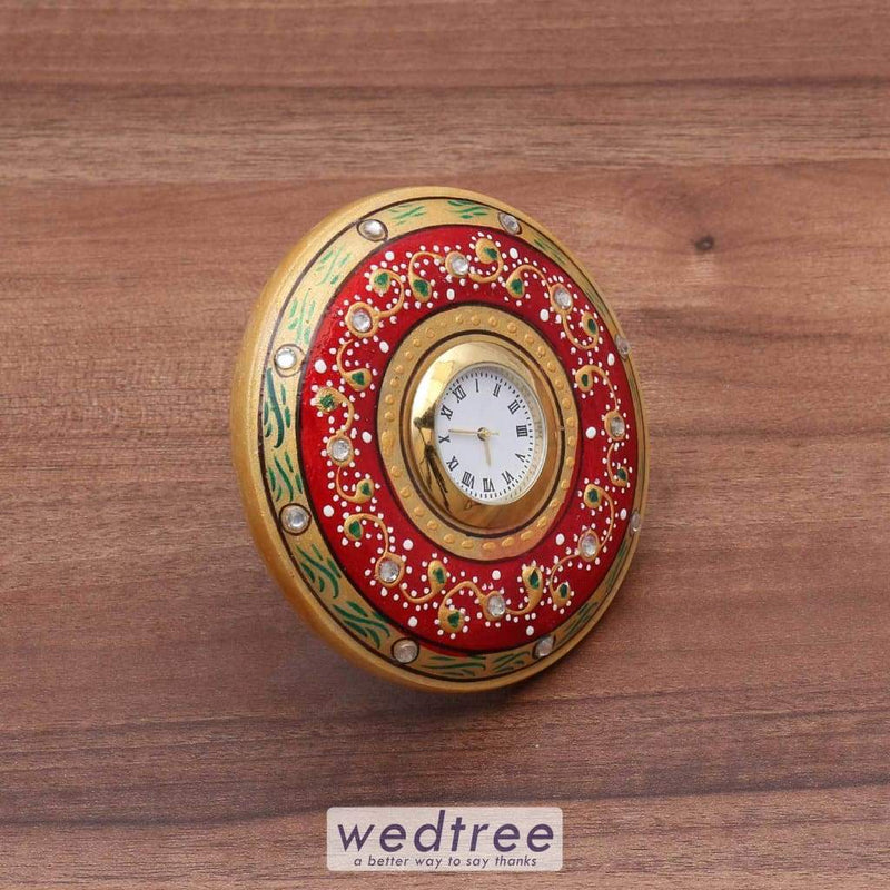 Marble Round Clock Utility Return Gifts