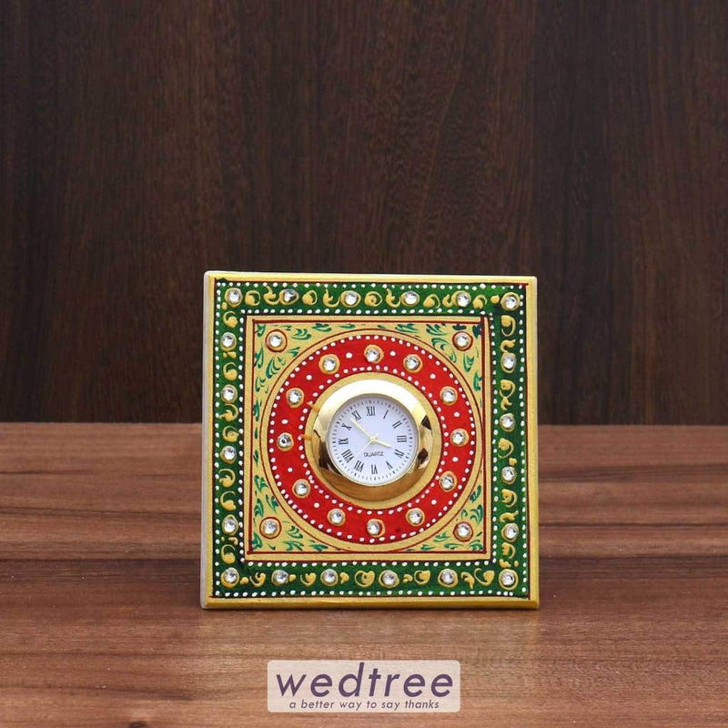 Marble Square Clock Big Utility Return Gifts