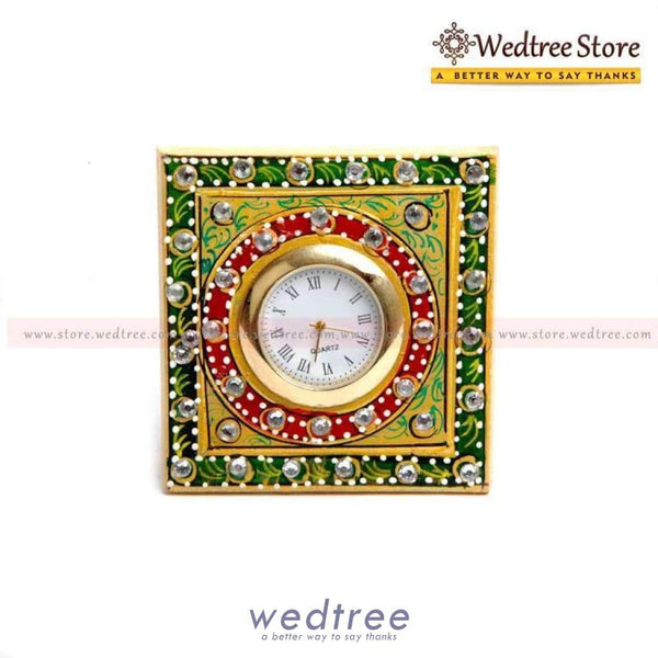 Marble Square Clock Small Utility Return Gifts