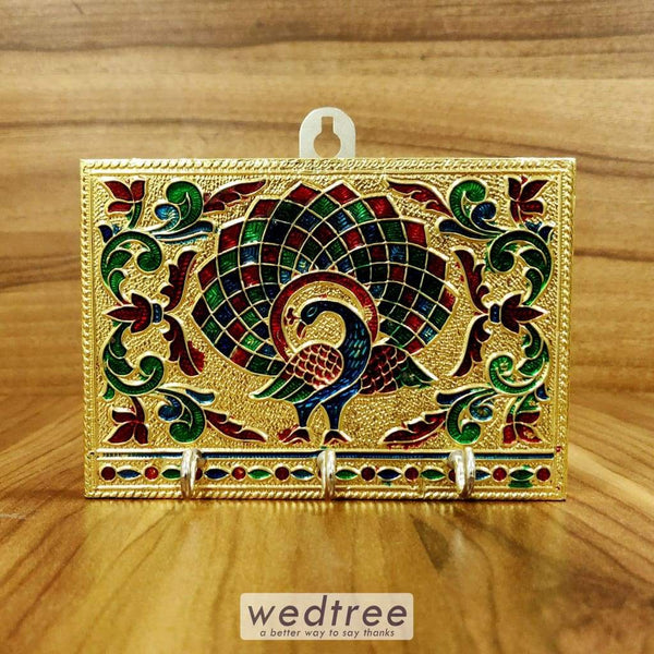 Minakari Peacock Key Hanger Small - W4373 Key Hangers