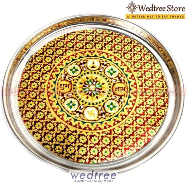 Minakari Plate 21 Inch Wedding Essentials