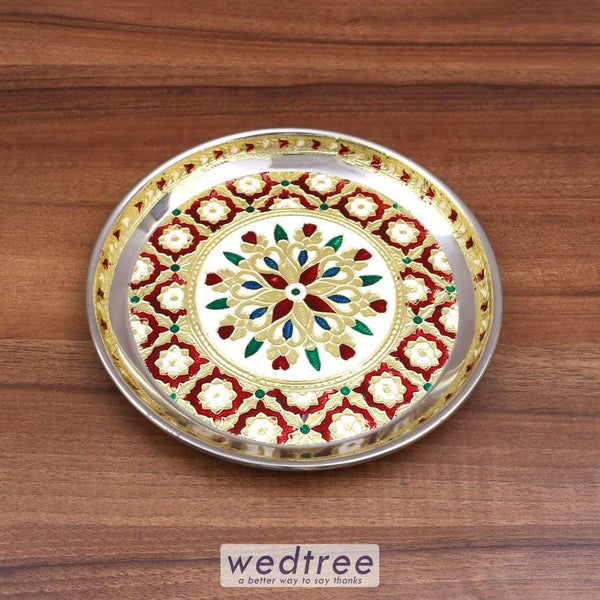 Minakari Plate 8 Inch Special Trays & Plates