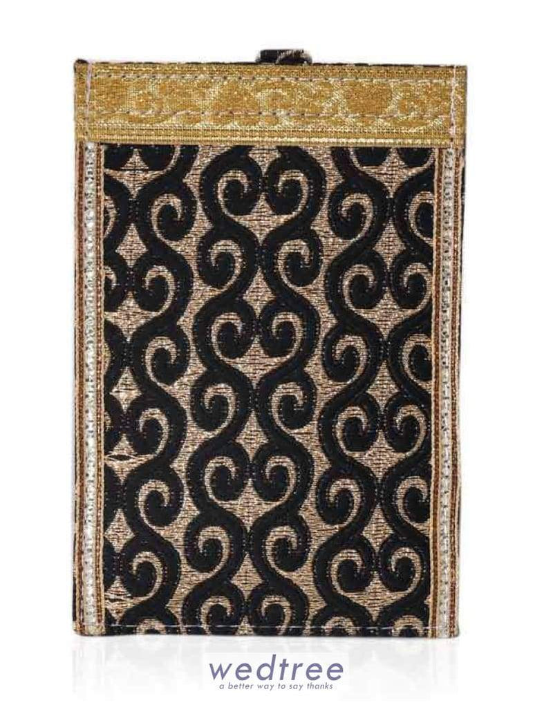 Mobile Pouch With Brocade And Lace Pouches