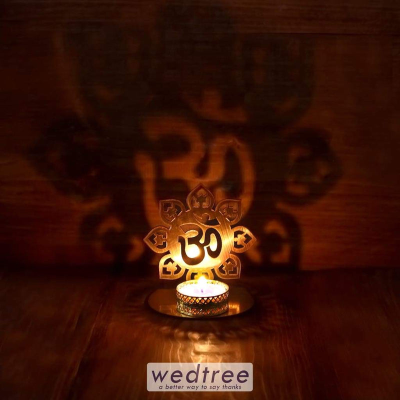 Om Shadow Diya - Mdf Diyas & Candle Holders