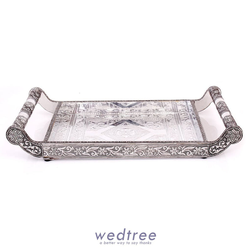 Oxidised - 6 Glass Tray Trays & Plates