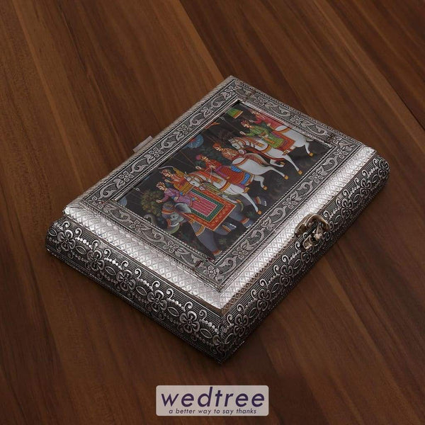 Oxidised Photo Box Rectangle Shaped Medium - 10X7 Inch W3182 Dry Fruit Box