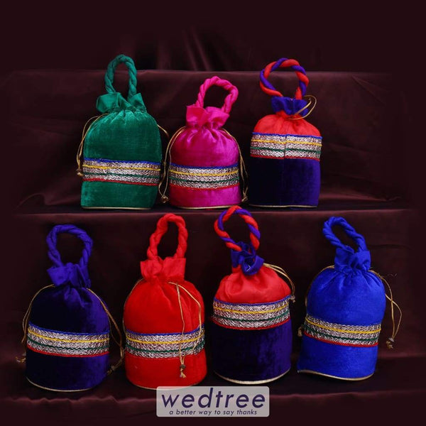Potli Bag Assorted Set Of 14 - Ap0040 Sets