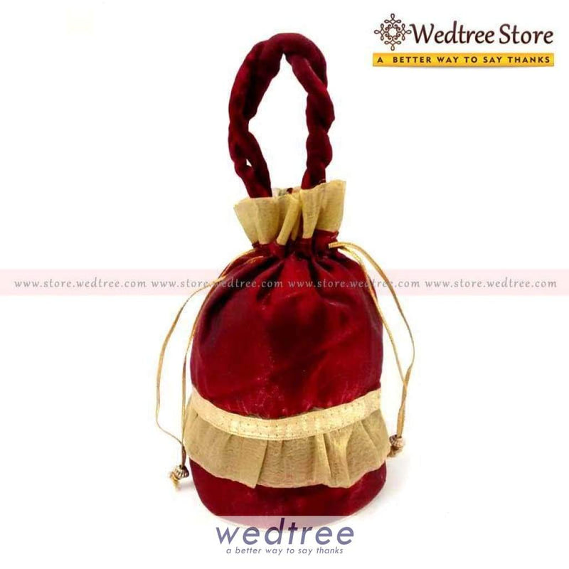 Potli Bag - Golden Frill Bags