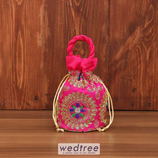 Potli Bag - Thread Embroidery With Chamki Work W3687 Bags