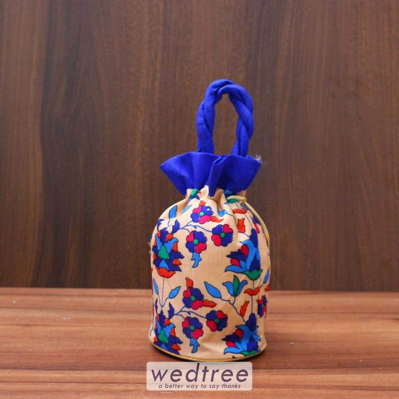 Potli Bag With Flower Print - W3512 Bags