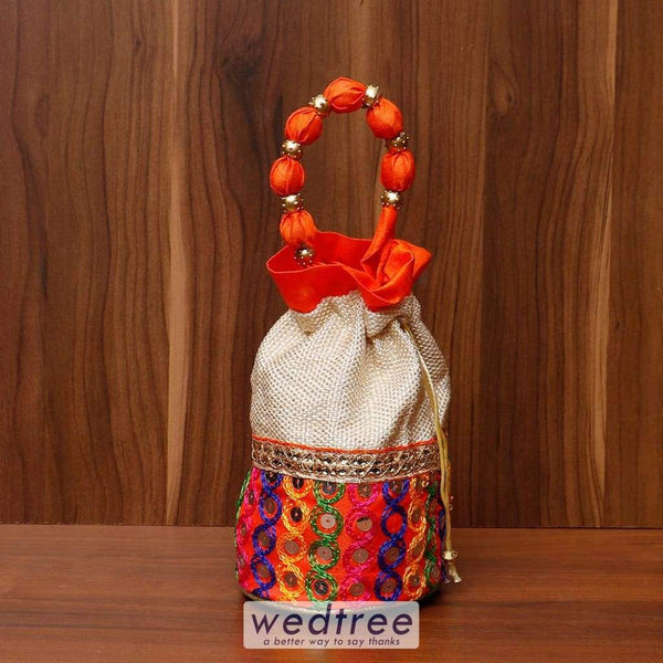 Potli Bag With Thread Embroidery Work - W4529 Bags