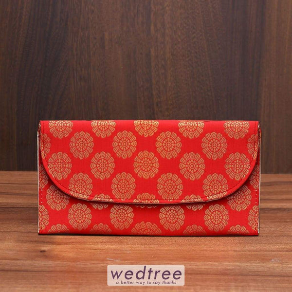 Purse With Mixed Golden Prints - W3516 Clutches & Purses